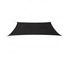 vidaXL Toldo de vela rectangular 4x6 m HDPE gris antracita