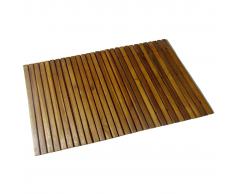 vidaXL Alfombra de acacia para el baño, 80 x 50 cm