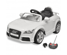 vidaXL Coche de juguete blanco con mando, modelo Audi TT RS