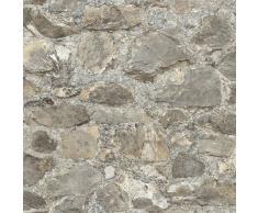 RoomMates Papel de pared adhesivo de piedra desgastada gris RMK9096WP