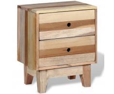 vidaXL Mesita de noche de madera reciclada maciza