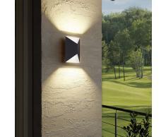 EGLO Lámpara de pared exterior LED Predazzo 2x2,5W blanco