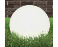 vidaXL Lámpara de jardín esférica E27 50 cm PMMA