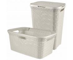 Curver Cesto de ropa sucia y de colada Style blanco 105 L 08506-885-00