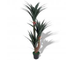 vidaXL Planta de yuca artificial con macetero 155 cm verde