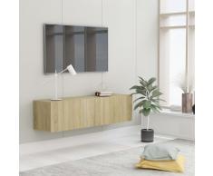 vidaXL Mueble para TV aglomerado color roble Sonoma 120x30x30 cm