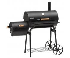 Landmann Ahumador de barbacoa Tennessee 200 66x37 cm negro 11402