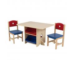 KidKraft Kid Kraft Mesa para niños con 2 sillas estrellas