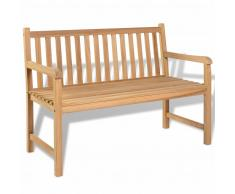 vidaXL Banco de jardín de madera de teca 120x62,5x90 cm