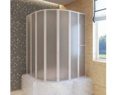 vidaXL Mampara de ducha con 7 paneles plegables y toallero