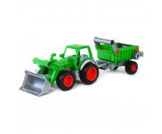 Polesie Polisie Tractor con pala frontal y remolque 58x16x17 cm verde 1450657