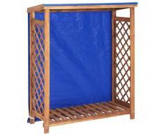 vidaXL Caseta para leña madera maciza de acacia 105x38x108 cm