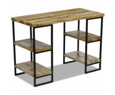 vidaXL Escritorio de oficina madera mango 110x55x76 cm
