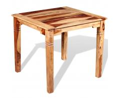vidaXL Mesa de comedor madera maciza sheesham 82x80x76 cm