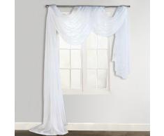 vidaXL Cortina de gasa transparente, 140 x 600 cm, Blanco