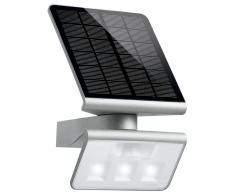 Steinel Aplique de exterior con LED y sensor Xsolar L-S color plateado