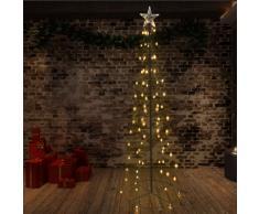 vidaXL Cono árbol de Navidad de 140 LED interior y exterior 72x240 cm