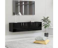 vidaXL Mueble para TV de aglomerado negro brillante 120x30x30 cm