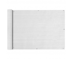 vidaXL Toldo para balcón HDPE 75x400 cm blanco