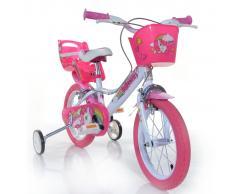 """Dino Bikes Bicicleta de niños Unicorn rosa 16"""""""