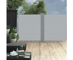 vidaXL Toldo lateral doble y retráctil de jardín gris 170x600 cm