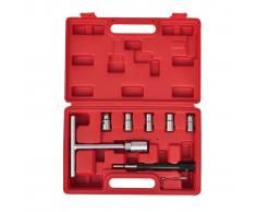 vidaXL 7 Piezas Set de escariador para asiento inyector cortador