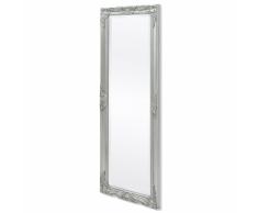 vidaXL Espejo de pared estilo barroco 140x50 cm plateado