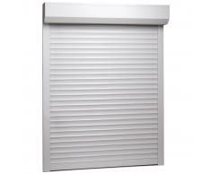 vidaXL Persiana enrollable aluminio blanca 120x150 cm