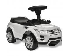 vidaXL Coche de juguete blanco con música, modelo Land Rover 348