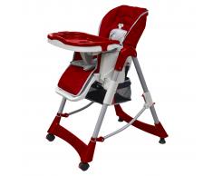 vidaXL Trona de bebé Deluxe de altura ajustable burdeos