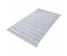 vidaXL Alfombra de algodón 180x270 cm azul