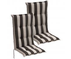 vidaXL Cojín para sillas de jardín 2 unidades 120x52 cm rayas oscuras