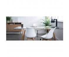 miliboo Lámpara de mesa diseño acero blanco