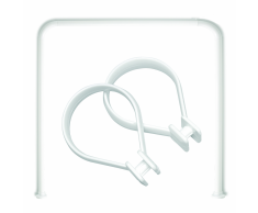 Sealskin set Seallux de barra cuadrada ducha + 12 anillas (Blanco)