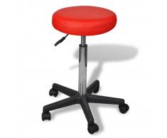 vidaXL Silla De Oficina Color Rojo