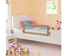 vidaXL Barandilla de seguridad cama de niño poliéster taupe 102x42 cm