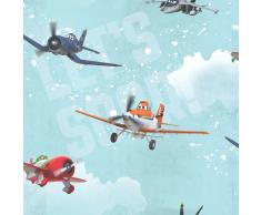 Kids at Home Papel de pared Planes azul 70-237