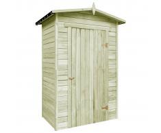 vidaXL Caseta de almacenaje de jardín de madera de pino 150x100x210 cm