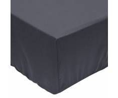 vidaXL Sábana bajera 200x200 cm algodón gris antracita 2 unidades