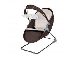 Baninni Cuna mecedora de bebé 2 en 1 Nina Zeno marrón beige BNBO001-BR