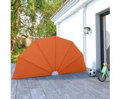 vidaXL Toldo lateral plegable terraza color terracota 160 cm