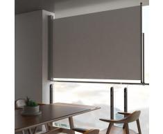 vidaXL Toldo lateral retráctil para patio 160x300 cm gris