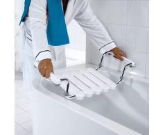 RIDDER Asiento para bañera con estructura pulida blanco A0040011