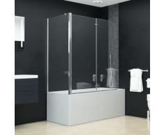 vidaXL Mampara de ducha de plegado doble ESG 120x68x140 cm