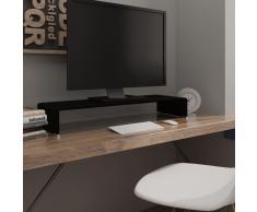 vidaXL Soporte para TV/Elevador monitor cristal negro 90x30x13 cm