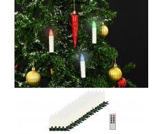 vidaXL Velas LED sin cable de Navidad mando distancia 100 uds RGB