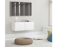 vidaXL Mueble para TV de aglomerado blanco brillante 80x30x30 cm