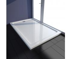 vidaXL Plato de ducha rectangular ABS, color blanco, 80 x 120 cm