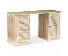 vidaXL Escritorio de madera maciza de mango 140x50x77 cm