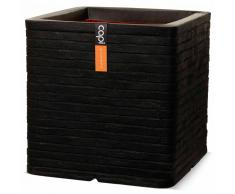 Capi Maceta cuadrada Nature Row 40x40 cm negra PKBLRO903